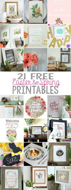 21 FREE Easter and Spring Printables | City Farmhouse