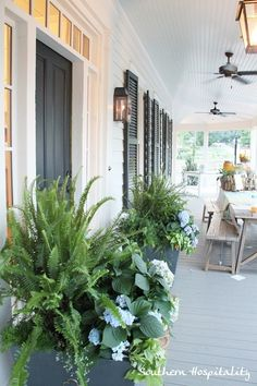 Feature Friday: Southern Living Idea House in Senoia, GA - Southern Hospitality Outdoor Rooms, Outdoor Living, Outdoor Decor, Southern Front Porches, Southern Hospitality, Southern Charm, Southern Style, Southern Living Homes, House With Porch