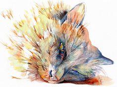 Art Print--VITO, the Wonder Cat--Pet Portrait--Print from Original Watercolor Painting, Custom ART painting