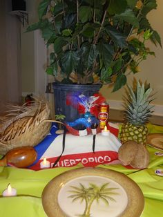 Puerto rican themed birthday party jolie 39 s party for Acanthus decoration puerto rico