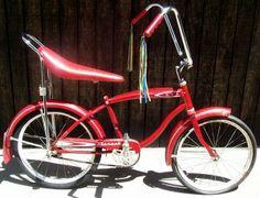 Sparkle Red Polo//Banana Bicycle Saddle