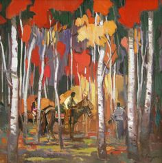 Francis Livingston, New Works - SOLD - Francis Livingston - In Red Forest