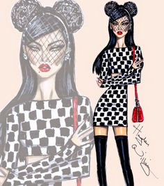 Hayden Williams Fashion Illustrations: 'Spotlight Stealer' by Hayden Williams
