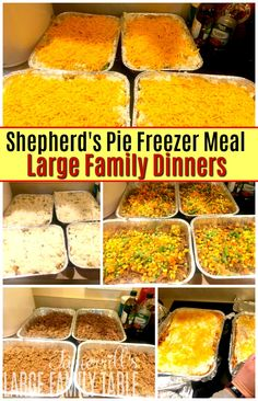 This shepherd's pie freezer meal recipe is always in our rotation. It is delicious, easy, and frugal to make for large families. Budget Freezer Meals, Make Ahead Freezer Meals, Freezer Cooking, Frugal Meals, Budget Recipes, Chicken Freezer Meals, Freezer Recipes, Crockpot Recipes, Chicken Recipes