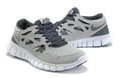 Damen Nike Free Run 2 Schuhe - grau, weiB