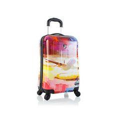 """Heys Cruise Luggage 21"""" Carry-on Suitcase Fashion Hardcase Patterned S – LazyBreeze Deals"""