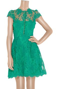 Issa | Cap-sleeve lace dress | NET-A-PORTER.COM
