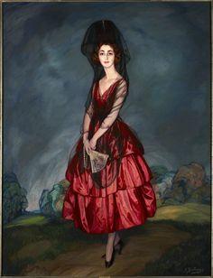 Ignacio Zuloaga y Zabaleta (Spanish, 1870–1945). Portrait of María del Rosario de Silva y Gurtubay, Seventeenth Duchess of Alba, 1921. Oil on canvas, 80 3/8 x 70 1/8 in. Dukes of Alba Collection, Liria Palace, Madrid.