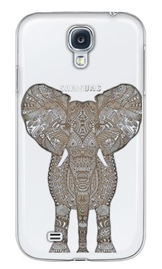 Casetify Galaxy S4 Classic Snap Hülle - VINTAGE ELEPHANT $ 40 for Samsung Galaxy S4 transparent case by Monika Strigel #Casetify