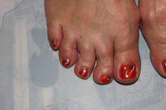 Knaloranje 'voetbal' nagels