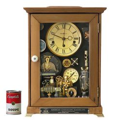 No 5230 Clock in Wood Box by SteampunkRoger on Etsy, $1490.00    I admit the trumpet valve may have influenced me to like it just a little bit more...