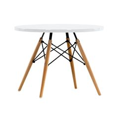 The iconic metal and wooden dowel base has been used to make the SW Side Table. Comes with a choice of top colour.