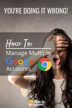 A lot of Google users have more than one Google account, often a school/work account and a personal account.If you are like me, you may have fifteen accounts! Did you know theres an easier way? Click here to learn how to manage multiple Google accounts! #edtech #google #education   shakeuplearning,com