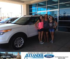 WE HAVE HAD A FABULOUS EXPERIENCE AT BILL ALEXANDER FORD. ROBERT ENRIQUEZ WAS VERY A HELPFUL AND INFORMATIVE SALESMAN. WE WOULD HIGHLY RECOMMEND FAMILY AND FRIENDS TO THIS DEALERSHIP.  TRACI RIVERA Saturday, July 19, 2014