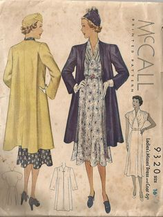 1930s McCall dress and coat pattern - LOVE