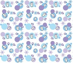 Penguins_on_Dots fabric by buzzellis on Spoonflower - custom fabric