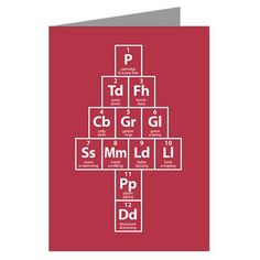 12 Elements of Christmas cards... so nerdy & cute!