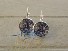 Cobalt China Blue Paisley drop earrings