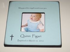 Personalized Baptism Frame For Baby Boy - Gift for W?