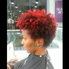 A cute graduated TWA, cut, colored and styled by Anderson.