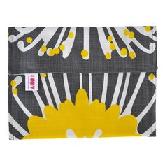 """""""Giant Pin"""" iPad cover in sunshine and charcoal"""