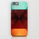 iPhone & iPod Case Abstract blue to orange by Christine Baessler