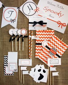 A Saucy + Spooky Halloween Party: party printables