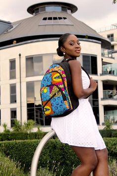 African Print Rucksack / Backpack by YaaAtaaBags on Etsy