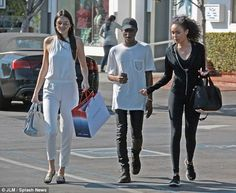 Scary shoes: Kendall Jenner wears skeleton slip-ons to shop in...