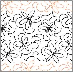 Ellie's Dragonflies quilting pantograph pattern by Lorien Quilting