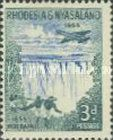 Rhodesia and Nyasaland, 15.6.1955, The 100th Anniversary of the Discovery of Victoria Falls, No.17 3P green/blue. Stamped 0,28 USD, Mint Condition 0,83 USD.
