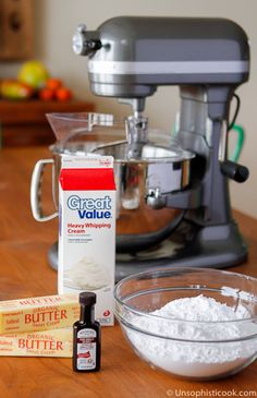 Best Ever Buttercream Frosting | Before you begin covering your cake with fondant, be sure that your cake is covered with a layer of buttercream at least 1/4-inch thick. This frosting layer helps the fondant stick to the cake and smooths out any bumps or imperfections on the cake surface, so the fondant layer looks clean and smooth. And it's buttercream, so it tastes amazing, right?