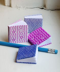 How to make origami mini paper books: sometimes pins really stand out to me. This is one that stands out! I am thinking I could send this with some stickers...and the kids would have a blast.