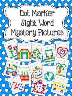 This is a set of 30 fun worksheets for young students to practice/review sight words. Each worksheet focuses on a few sight words for the students to recognize and color in with Do-a-Dot markers or Bingo Daubers to reveal the hidden picture.   *Sight words are from the Dolch Word List (Pre-primer, Primer, and First)  Great for a literacy center!