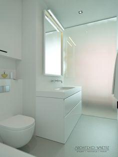 Minimalistyczna łazienka na Warszawskim Powiślu. Minimalistic bathroom in Warsaw`s district - Powiśle.