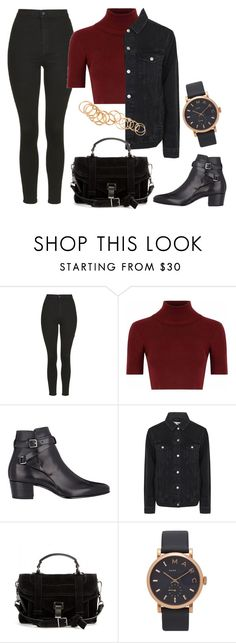 """""""Untitled #373"""" by charlotte-down on Polyvore featuring Topshop, Glamorous, Yves Saint Laurent, Proenza Schouler, Marc Jacobs and H&M"""