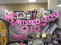 JoJo's welcome back banner Welcome Back Banner, Banner Ideas, We Missed You, Diy, Crafts, Manualidades, Bricolage, Do It Yourself, Handmade Crafts