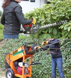 """Trim & Shred Your Hedges. $89 for 6 Hour  Deal includes our Wood Shredder and our gas powered Hedge Trimmer. Use the hedge trimmer to cut, trim or sculpt your hedges/shrubs and then use the wood shredder to shred/mulch the trimmings or any other wooded debris that measures less than 1.75"""" in diameter. This price includes delivery, pickup and onsite instructions. Deal valid through June 2012. Use promotion code: trimshred12"""