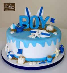 surf baby boy taart