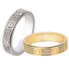 Carter Rings For Women Unisex CZ 925 fashion Jewelry WhiteGold Plated Finger Rings for Men Women Wedding Engagement Ring 2016