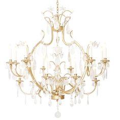 For Sale on - A custom 15 light gilt brass cage form Louis XV style Bagues chandelier, the arms of staggered height issuing from frame draped with rock crystal and faceted Chandelier Pendant Lights, Brass Cage, Chandeliers And Pendants, Bronze Chandelier, Metal Candle, Chandelier, 1stdibs, Large Chandeliers, Luxury Lighting