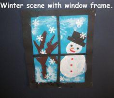 Winter Scene Display, classroom display, class display, Seasons, weather, the seasons, winter, snow, cold, Early Years (EYFS), KS1 & KS2 Primary Resources
