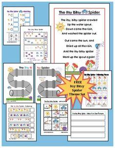 FREE- Itsy Bitsy Spider Theme Set -Kindergarten