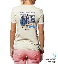 #AGD getting back to their southern roots! #AlphaGam #Sorority   Made by University Tees   www.universitytees.com