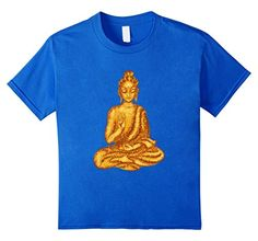 Kids Buddha TShirt Buddhist Meditation Zen Buddhism Statue Tee 6 Royal Blue * Read more reviews of the product by visiting the link on the image.