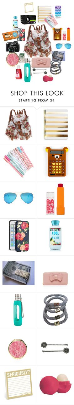 What to put in your Purse when you travel by jmail1915 on Polyvore featuring Chanel, Vivienne Westwood, Tiffany & Co., Sonix, Ray-Ban, 1928, Maybelline, Eos, Forever 21 and Nikon