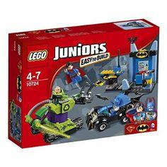 LEGO Dc Comics 10724 - Set Costruzioni Juniors Batman E Superman Vs Lex Luthor