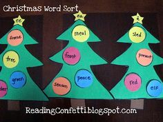 Christmas Word Sort Tutorial ~ Reading Confetti