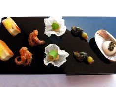 Food in Southern Portugal: Appetizers at the Vila Joya restaurant