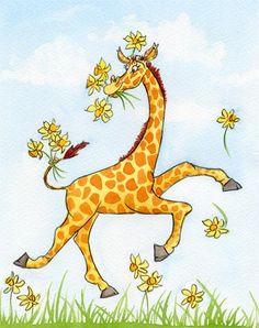 vicky fieldhouse - children's illustrator giraffe
